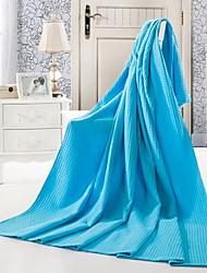 Strick Blau / Grau / Rosa / Rot,Jacquard Vichy-Karo 100% Baumwolle Decken 150*200cm  180*220cm