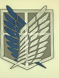 Bijoux / Badge Inspiré par Attack on Titan Cosplay Anime/Jeux Vidéo Accessoires de Cosplay Badge Noir / Bleu Tissu non tisséMasculin /