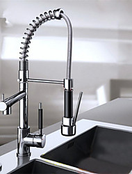 Pull Down Kitchen Sink Faucet Swivel Spout Mixer Chrome Finish