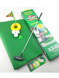 Töpfchen WC Putter Golfspiel Minigolf eingestellt WC Golf Putting Green (1set)