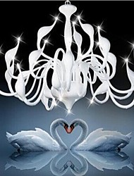 White Swan Chandelier Modern Chandelier Wrought Iron Chandelier