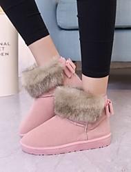 Zapatos de mujer - Tacón Plano - Botas de Nieve - Botas - Exterior / Casual - Tejido - Negro / Amarillo / Rosa