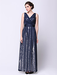 TS Couture® Formal Evening Dress A-line V-neck Ankle-length Chiffon with Sequins