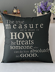 """43cm*43cm 17""""*17"""" Poster Saying Cotton / Linen Cotton&linen Pillow Cover / Throw Pillow With No Insert"""
