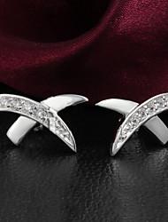 Earring Stud Earrings / Clip Earrings Jewelry Women Wedding / Party / Daily / Casual Zircon 1set