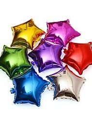 """18 """"10pcs / set cores misturadas estrela de cinco pontas de fontes do partido de aniversário de casamento decoração balões folha de"""