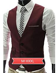 Men's Casual Sleeveless Suit Vest (Cotton)