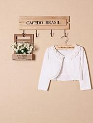 Wraps casamento / Xales de Criança Boleros Manga Comprida Algodão Branco / Rosa Corado Casamento / Festa / Casual ConchaArco / Flor(es) /