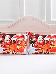 heißer Verkauf santa claus dekorative Kissenbezug decken Weihnachtsgeschenk Körper Kopfkissenbezug 2pcs / pair