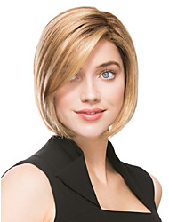 Short Length Straight Hair European Weave Light Blonde Hair Wig