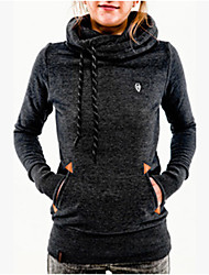 FX.M  Women's Solid Color Black Sweats & Hoodies , Casual Hoodie Long Sleeve