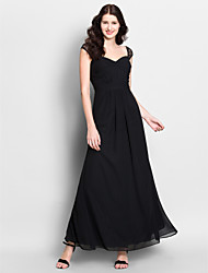 Lanting Ankle-length Chiffon Bridesmaid Dress - Black Trumpet/Mermaid Sweetheart