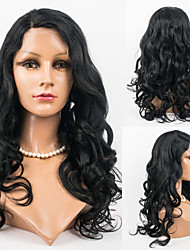 18inch Lace Front Hair Wigs 100% Human Hair Mongolian Virgin Hair Wavy Style Human Hair Wigs for Women