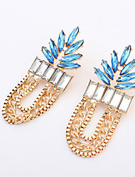 European Style Fashion Exaggerated Leaf Vintage Drop Earrings