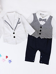 Boy's Clothing Set Spring / Fall Necktie Crawling  Jumpsuit  Small Suit Twinset