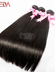 3pcs / lot 8 '' - 30 '' premières soie de cheveux vierges droites extensions de cheveux humains malaisiens cheveux naturels noirs humain