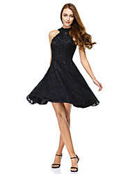 TS Couture® Cocktail Party Dress A-line Jewel Knee-length Lace with Lace