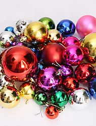 (A Packet Of 44)Christmas Colorful Balls Christmas Tree Ornaments