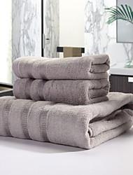 Ensemble de serviette de bain - Fil teint - en 100% Fibre de bambou - towel:34*76cm   Bath towel:70*140cm