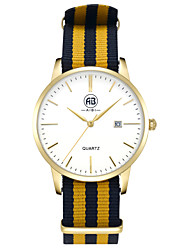 AIBI® Men's Fashion Watch Calendar Water Resistant Fabio New York Golden Yellow Wrist Watch For Men Cool Dress Watch Unique Watch With Watch Box