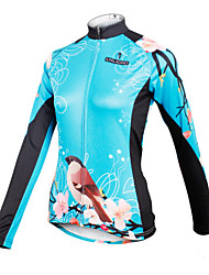 PALADIN® Cycling Jersey Women's Long Sleeve Bike Breathable / Quick Dry Jersey / Tops 100% Polyester Floral / BotanicalSpring / Summer /