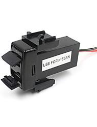 2 USB порта AUX завод панель быстрое зарядное устройство 5V 1.2A 2.1a для Nissan автомобиль
