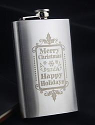 frascos de la cadera de acero inoxidable personalizada 9-oz frasco gracias