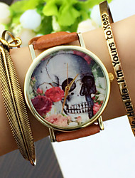 Vintage style Skull Men's Watch,Women's Rose Watch ,Men's Watch,QuartzWrist Watch,Gift Idea Cool Watches Unique Watches