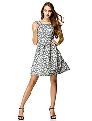 TS Couture® Cocktail Party Dress - Print A-line Scoop Knee-length Polyester