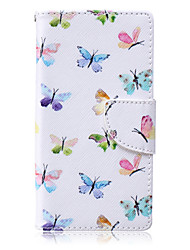 Butterfly Flying Painted PU Phone Case for Huawei P8 Lite