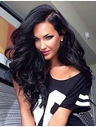 style de cheveux populaire cheveux brésiliens naturelle pleine de dentelle de cheveux humains perruque avec une partie latérale en stock