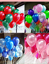 100pcs Colorful Pearl Latex Balloon Celebration Party Christmas Décor