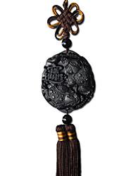 Дуэт дзи миль ® двойной spittor повесить веревки черного дерева кулон висит автомобиль украшения