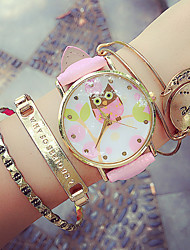 Women's Circular Quartz Fashion Wrist Watch Owl Wrist Watch (Assorted Colors) Cool Watches Unique Watches