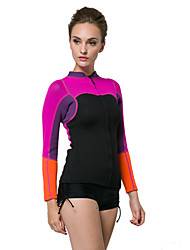 2mm Warm Up Ladies Rash Vest Top Women Rash Guard Surfing Wear Winter Surf Wear (Only Tops)
