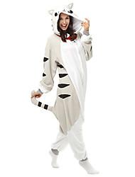 Kigurumi Pyjamas Kat / Chi Sweet Home / Cheese Kat Trikot/Heldragtskostumer Festival/Højtider Animal Nattøj Halloween Sort PatchworkPolar