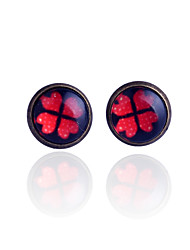 Stud Earrings Gemstone Alloy Rainbow Jewelry Party Daily Casual 2pcs