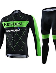 KEIYUEM® Cycling Jersey with Tights Unisex Long Sleeve BikeWaterproof / Breathable / Quick Dry / Windproof / Insulated / Rain-Proof /