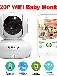 besteye® u5886 wifi bebé cámara ip inalámbrica inteligente monitor con visión nocturna de dos vías aplicación gratuita de detección de