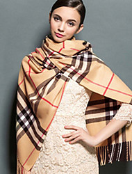 Autumn Winter Unisex British Classic Plaid Acrylic Scarf for Wedding Party Wrap