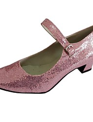 Chaussures de danse(Rose) -Personnalisables-Talon Bottier-Paillette Brillante-Moderne