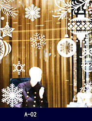 DIY Christmas White Snowflakes Sticker Windows Glass Cabinet Wall Stickers  Decoration