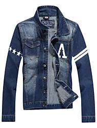 Men's Pure Long Sleeve Slim Demin Jacket , Shirt Cotton Casual / Plus Sizes