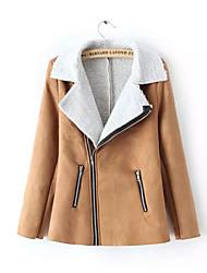 Women Lamb Fur Outerwear / Top , Fleece Lining