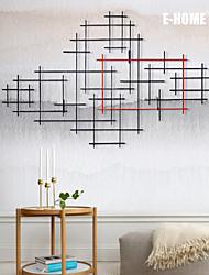 e-FOYER de décoration murale d'art de mur en métal, ligne composition décoration murale un pcs