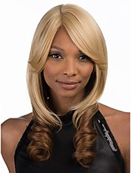 New Stylish   Women Lady  Syntheic Wig Extensions Blonde And Brown Loose Wave