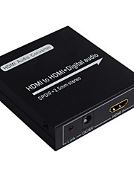 HDMI to HDMI with Digital Audio SPDIF 3.5mm Stereo Converter Extractor