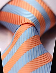 Men Wedding Cocktail Necktie At Work Blue Orange Colors