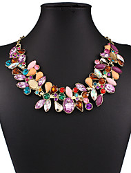 MPL Europe and the United States selling exaggerated color resin diamond necklace