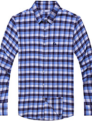 Men's Casual Cotton Checked Flannel Shirt